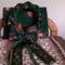 fonott textil koszorú