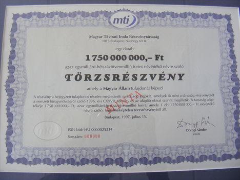 MTI részvény