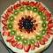 Dekoratív gyümölcs-pizza