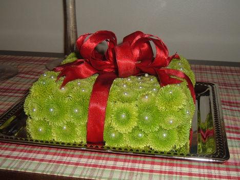 virágos csomagolás