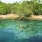 Drótkötélen a Prathinha tóba
