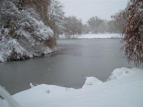 Városligeti-tó havazás  2009.12.19.