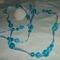 kék szalagos nyaklánc