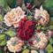 Rózsák,selyem,15x15 cm