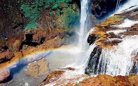 A legszínesebb vízesés Azilal közelében, az Ouzoud