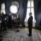 Sólyom László megtartja szokásos újévi köszöntő beszédét a Sándor-palota Kék szalonjában