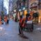 Szilveszter utáni takarítás Budapesten a Váci utcában