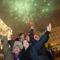 Ünneplők a budapesti Vörösmarty téren