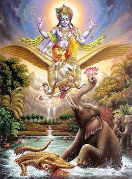 Vishnu Garuda sas hátán
