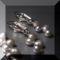 Ezüst színű édesvizi gyöngy cikk-cakk füli