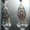 Hegyikristály - Swarovski - tibeit ezüst füli
