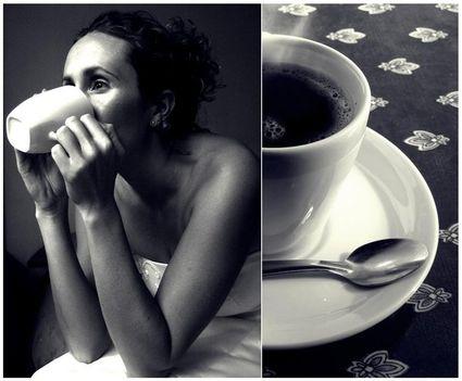 kávé és nő