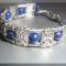 Lápisz lazuli - tibeti ezüst karkötő