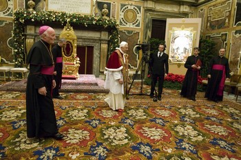 A biborosok köszöntését fogadta a pápa a vatikánban.