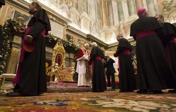 A biborosok köszöntését fogadta a pápa a vatikánban. 5
