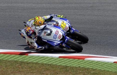 Lorenzo és Rossi küztelme