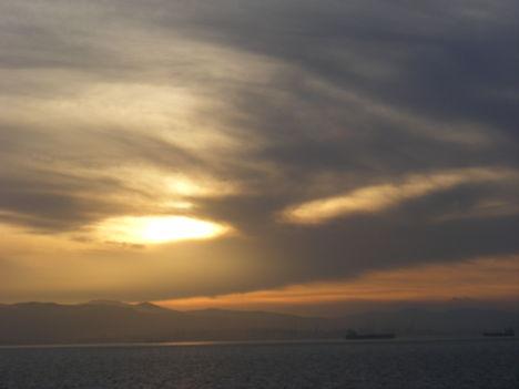Naplemente a Gibraltári szorosban