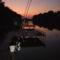 A Horgásztó naplementénél