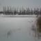 A téli tó 2010 januárban Dányban.
