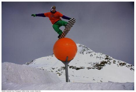 Freestyle snowboard a narancs tetején :)