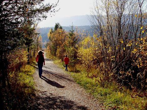 séta a természetben