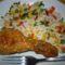 rizi-bizi, rántott csirkével