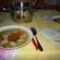 májgaluska leves az asztalon