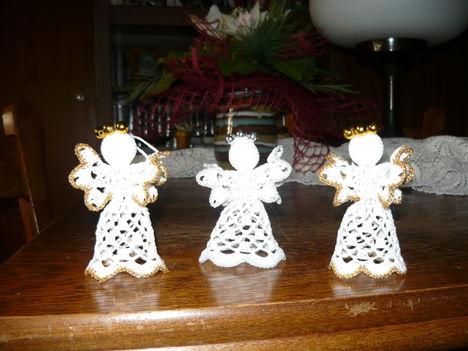 horgolt angyalkák