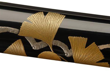 Ginkó-leveles japán-kardtok (részlet)