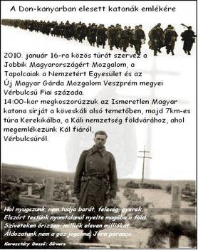 Megemlékezés a Don-kanyarban elesett katonák emlékére - Tapolcán