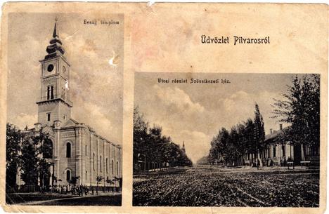 Pitvarosi képeslap a 100ad fordulóról