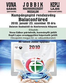 Vona Gábor kormányfő-jelölt  a kampánynyitó rendezvényen