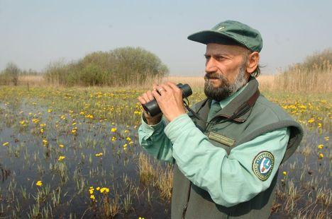 Fülöp Tibor, a Fertő Hanság Nemzeti Park tóközi őrkerületének vezetője