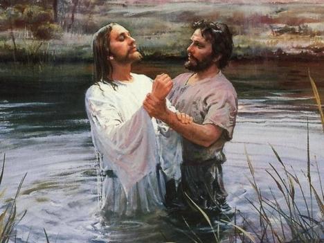Keresztelő János.JÉZUS keresztetése.