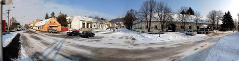 Pannonhalma városközpont panorámakép (180 fokos)
