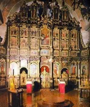 Ikonosztáz egy lengyel templomban
