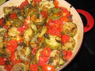 sült zöldség