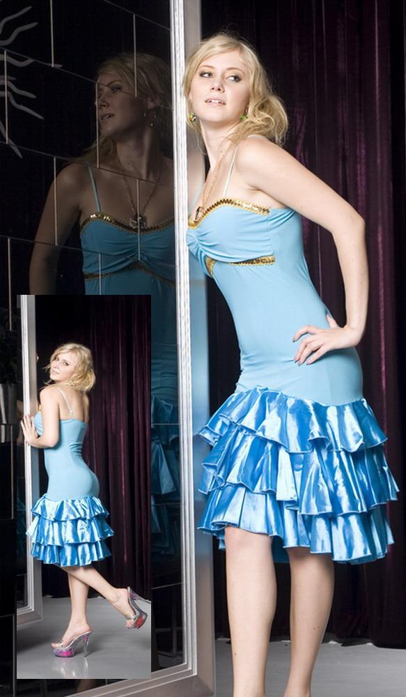 Salsa  Szexi kék salsa ruha (kép) f79b8a310f