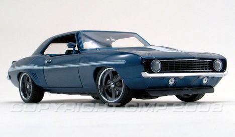 1969 Yenko Camaro dark blue metalic