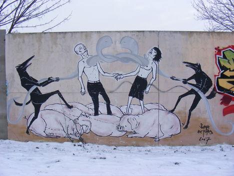 Rákoskeresztúr, graffiti, Pesti út (2)