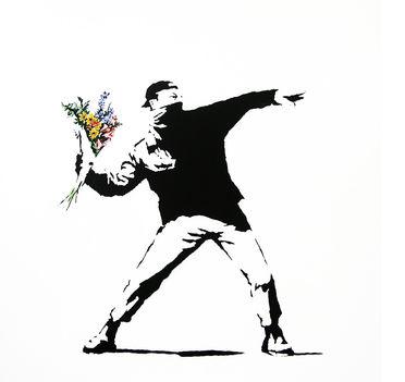 Banksy - Flowerchucker 2