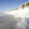 jeges hullámtörő gát a Balti-tengeren