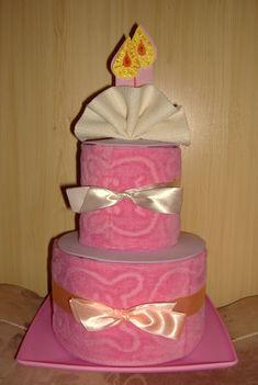 Törölköző torta szülinapra