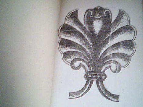 stilizált pálma levél