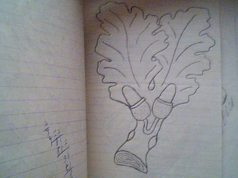 tölgyfa levelek ( hamutálca)