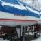 Hajók a téli kikötőben