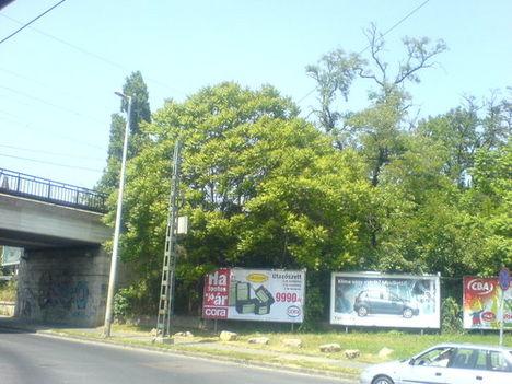 óriásplakátok a Villányi úton