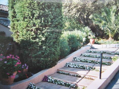 Lépcsők Ramatuelle-ben
