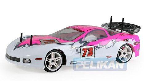 Himoto Nas Corvette rózsaszín autómodell