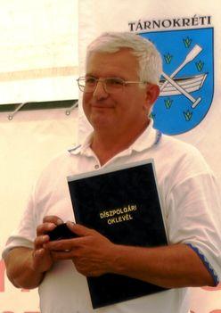 9. Nagy Ferenc Tárnokréti Díszpolgára lett
